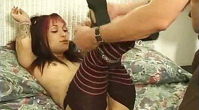Crazy emo girls scissor rides and tug THEIR dick