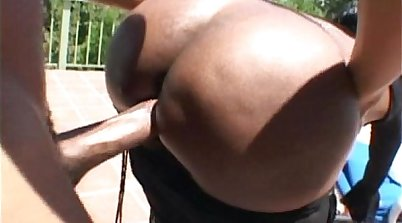 African beauty with super big booty has a hot dream