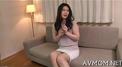 Cute Asian Mom Gets Fingered And Drilled