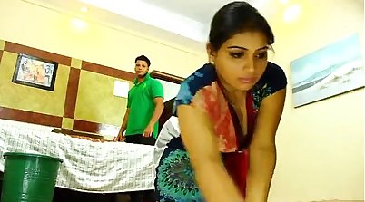 Big breasted Indian maid got smashed by her master