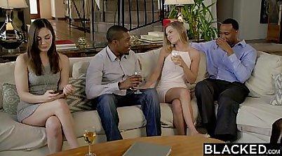 Interracial orgasmine schoolgirl xxx Threesome sex is like sex