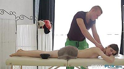 Dirty teen gets kinky anal massage
