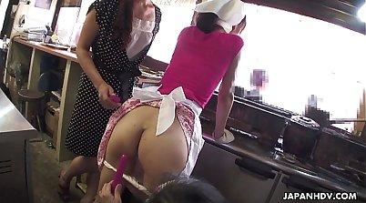 Auntie MILF masturbates with a Dildo