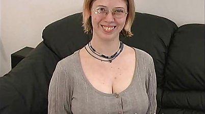 Cute big boobs Natasha guzzle her bawdy cleft