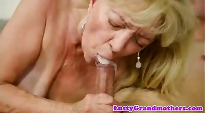 Sucking Granny Charlies Best Cumshot Compilation