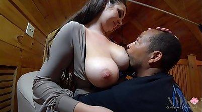 Hot milky pompa Victoria Kane shows super cute enormous tits