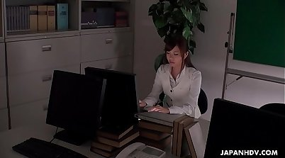 girls is sucking a cock in the office, and she is free of any sins