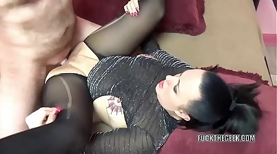 Tattooed milf gets mouthfuls of horny cum