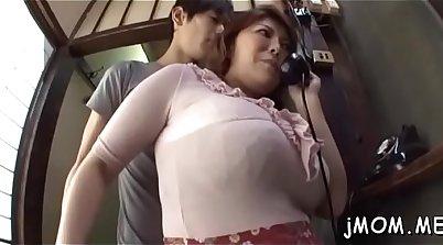 Asian Mature Masturbates And Drilled