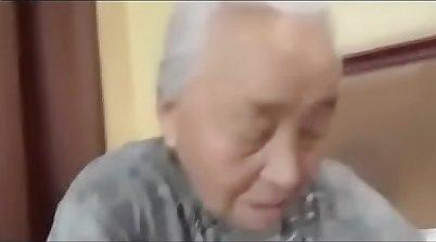 Guy fucks japanese granny