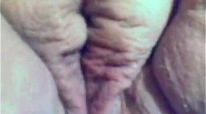 Chubby girlfriend masturbating her pussy