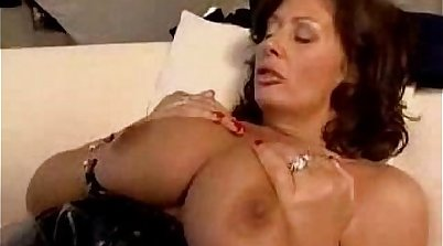 Busty British milf Ange De Giovanni interracial and anal