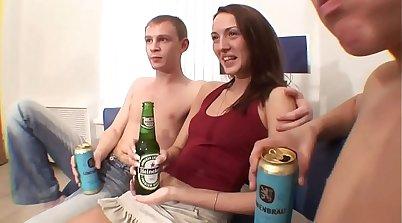 Russian Twins In Hardcore Sex Threesome