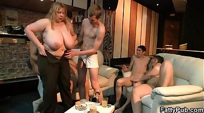 Blonde amateur takes big fat cock at sex party