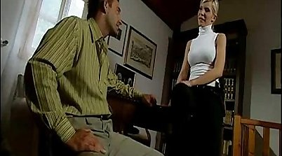 blonde is feeling a thick penis at the office - Quickie