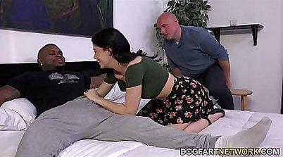 Cuckold Whore Pleasured by Black Cocks