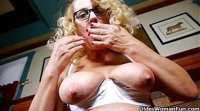 grandma with busty doll mouth