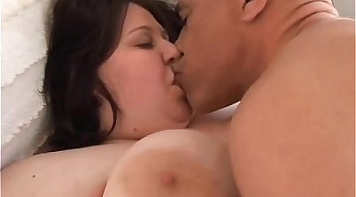 BBW with Huge Tits Showered with Facial Cumshot
